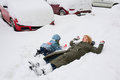 Winter playtime Royalty Free Stock Photo