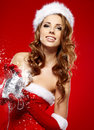 Winter portrait of a christmas  woman Royalty Free Stock Image