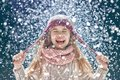 Winter portrait of little girl Royalty Free Stock Photo