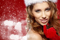 Winter portrait of a santa woman Royalty Free Stock Photo