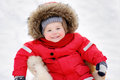 Winter portrait of toddler Royalty Free Stock Photo