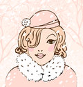 Winter pretty woman Royalty Free Stock Photos