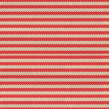 Winter red and beige striped Scandinavian traditional knitted seamless pattern. Background for Christmas and New Year