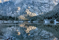 Winter Reflection Scene, Austria Royalty Free Stock Photo