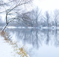 Winter river Stock Photo