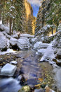 Winter river landscape Royalty Free Stock Photos