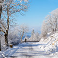 Winter road, Germany Stock Photos