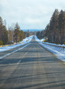 Winter road m named baikal in siberia Royalty Free Stock Photography