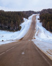 Winter road m named baikal in siberia Royalty Free Stock Photo