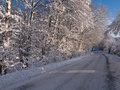 Winter road perfect background image Stock Photo