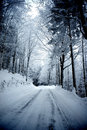 Winter road with snow italy Stock Image