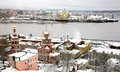 Winter russian ancient city nizhny novgorod russia Royalty Free Stock Images