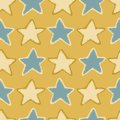 Winter Rustic Stars Lino Cut Texture Seamless Vector Pattern, Sketchy Starry