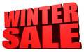 Winter sale this is a Stock Photography