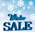 Winter sale background Royalty Free Stock Photos