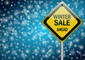 Winter sale background Royalty Free Stock Image