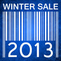 Winter sale banner with barcode Royalty Free Stock Photography