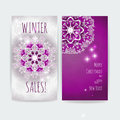 Winter sale. Christmas design vector print artwork template Royalty Free Stock Photo