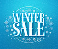 Winter sale 3D text illustration in winter background of