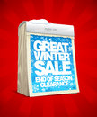 Winter sale design in form of calendar template tear off eps Royalty Free Stock Photos