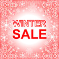 Winter sale frame in red Stock Image