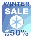 Winter sale label for with motive Royalty Free Stock Photos