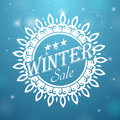 Winter sale snowflake beautiful banner on discounts in the form of snowflakes Stock Photo