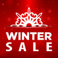 Winter sale snowflake in pocket red background Stock Photos