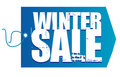 Winter Sale tag Royalty Free Stock Images