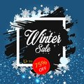 Winter Sale Up to 75% OFF Vector Image