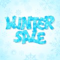 Winter sale vector illustration of background with snowflake Royalty Free Stock Photography