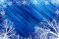 Winter scene with blue backround Royalty Free Stock Photo