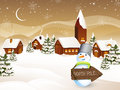 Winter scene - christmas card Stock Images