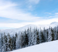 Winter scene in mountains Royalty Free Stock Image