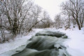 Winter scenic of the River Krynka, Donetsk region, Ukraine Stock Image