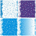 Winter seamless pattern set Stock Photo