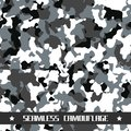 Winter seamless vector camouflage background