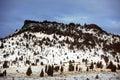 Winter season in rural area of Montana Royalty Free Stock Photo