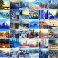 Winter season scene in norway mountains trysil Royalty Free Stock Image