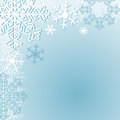 Winter seasonal background with snowflakes is resented Stock Photos