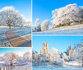 Winter set of compositions ely cambridge united kindom Stock Image