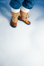 Winter shoes in snow Stock Photography