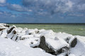 Winter on shore of the baltic sea Royalty Free Stock Image