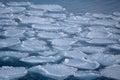 Winter on shore of the okhotsk sea in abashiri japan Royalty Free Stock Images