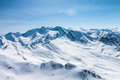 Winter snow covered mountain peaks Royalty Free Stock Photo
