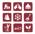 Winter and snow icons set Stock Photography