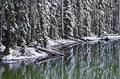 Winter Snow Reflections At Devil's Lake Oregon Royalty Free Stock Photo