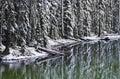 Winter Snow Reflections At Devil's Lake Oregon Royalty Free Stock Photo
