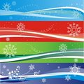 Winter snowflake banners Stock Images