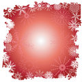 Winter snowflake border Stock Photography